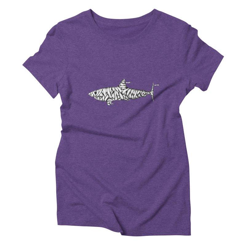 Mummy Shark Women's Triblend T-Shirt by cmatthesart's Artist Shop