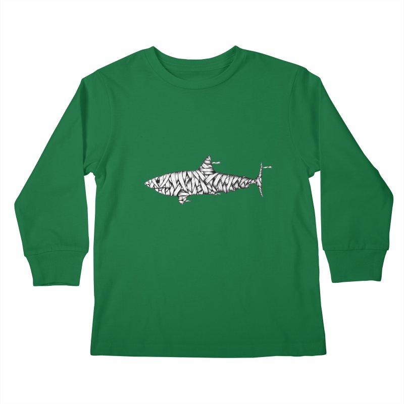 Mummy Shark Kids Longsleeve T-Shirt by cmatthesart's Artist Shop