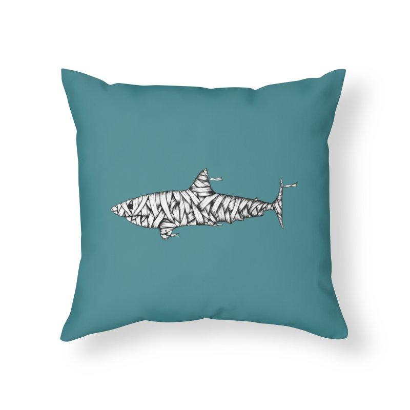 Mummy Shark Home Throw Pillow by cmatthesart's Artist Shop