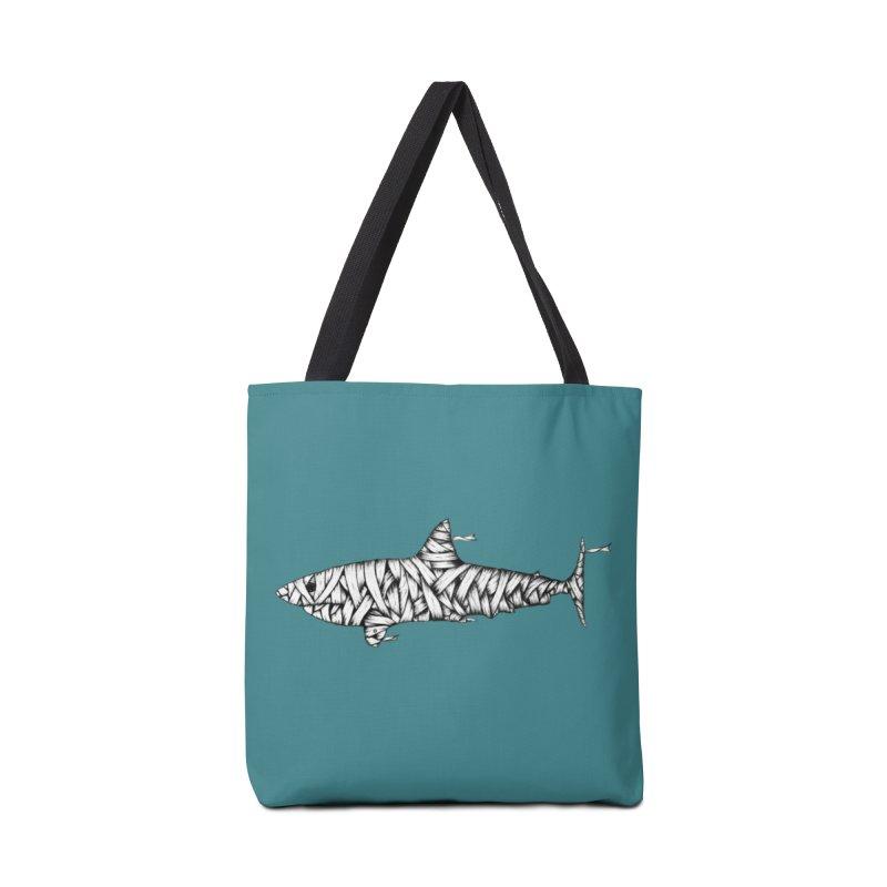Mummy Shark Accessories Bag by cmatthesart's Artist Shop