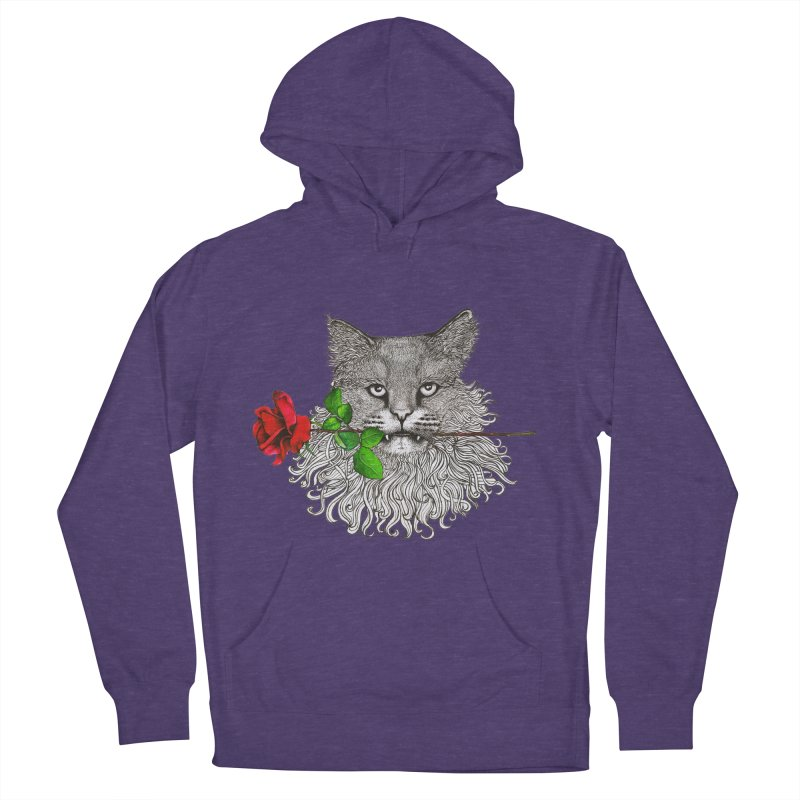 Romantic Cat Women's French Terry Pullover Hoody by cmatthesart's Artist Shop