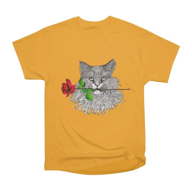Romantic Cat Women's Heavyweight Unisex T-Shirt by cmatthesart's Artist Shop