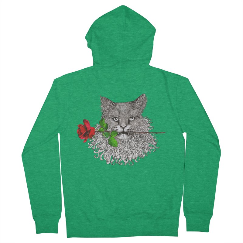 Romantic Cat Men's Zip-Up Hoody by cmatthesart's Artist Shop
