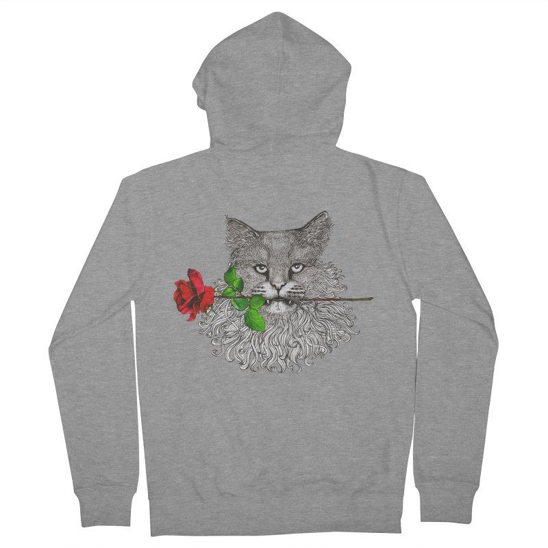 Romantic Cat Men's French Terry Zip-Up Hoody by cmatthesart's Artist Shop