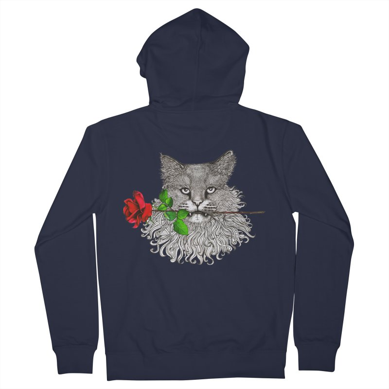 Romantic Cat Men's French Terry Zip-Up Hoody by cmatthesart's Artist Shop