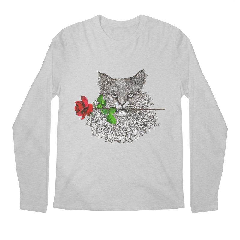 Romantic Cat Men's Longsleeve T-Shirt by cmatthesart's Artist Shop