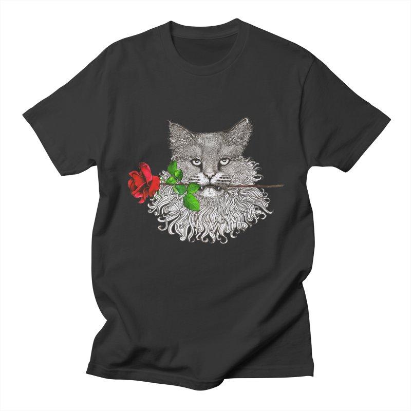 Romantic Cat Women's Regular Unisex T-Shirt by cmatthesart's Artist Shop