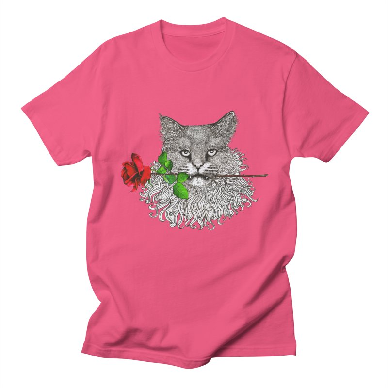 Romantic Cat Men's Regular T-Shirt by cmatthesart's Artist Shop