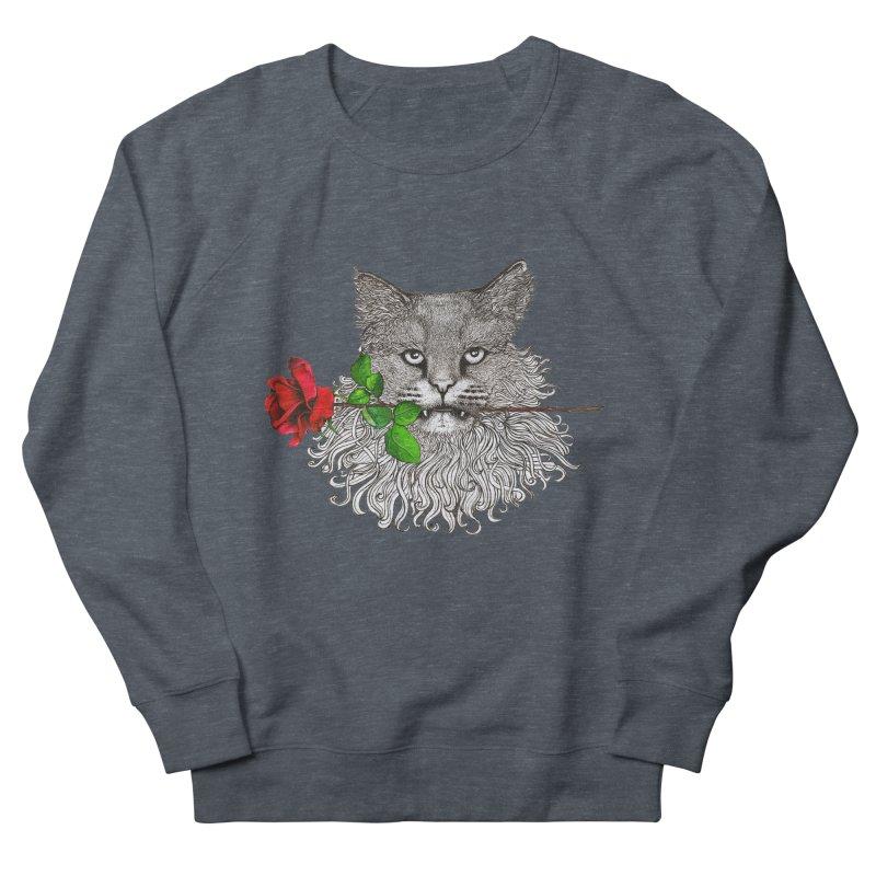 Romantic Cat Men's French Terry Sweatshirt by cmatthesart's Artist Shop