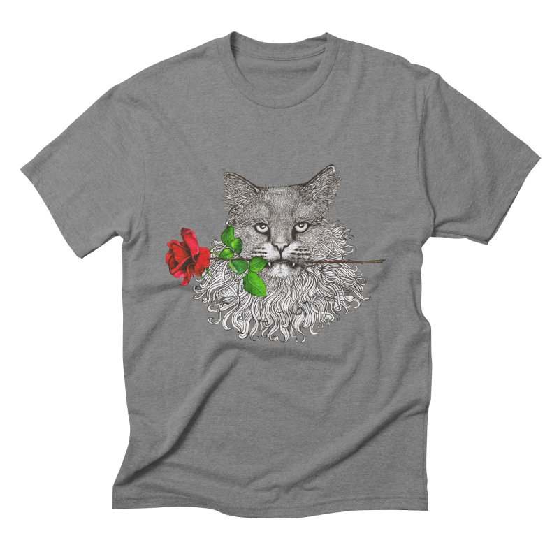 Romantic Cat Men's Triblend T-Shirt by cmatthesart's Artist Shop