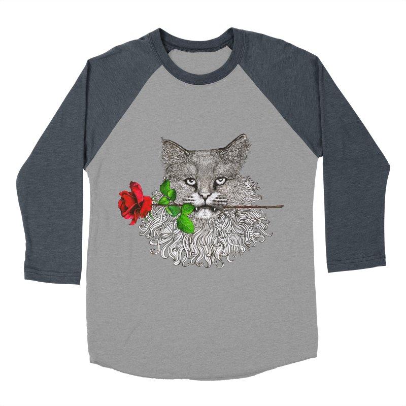 Romantic Cat Women's Baseball Triblend Longsleeve T-Shirt by cmatthesart's Artist Shop