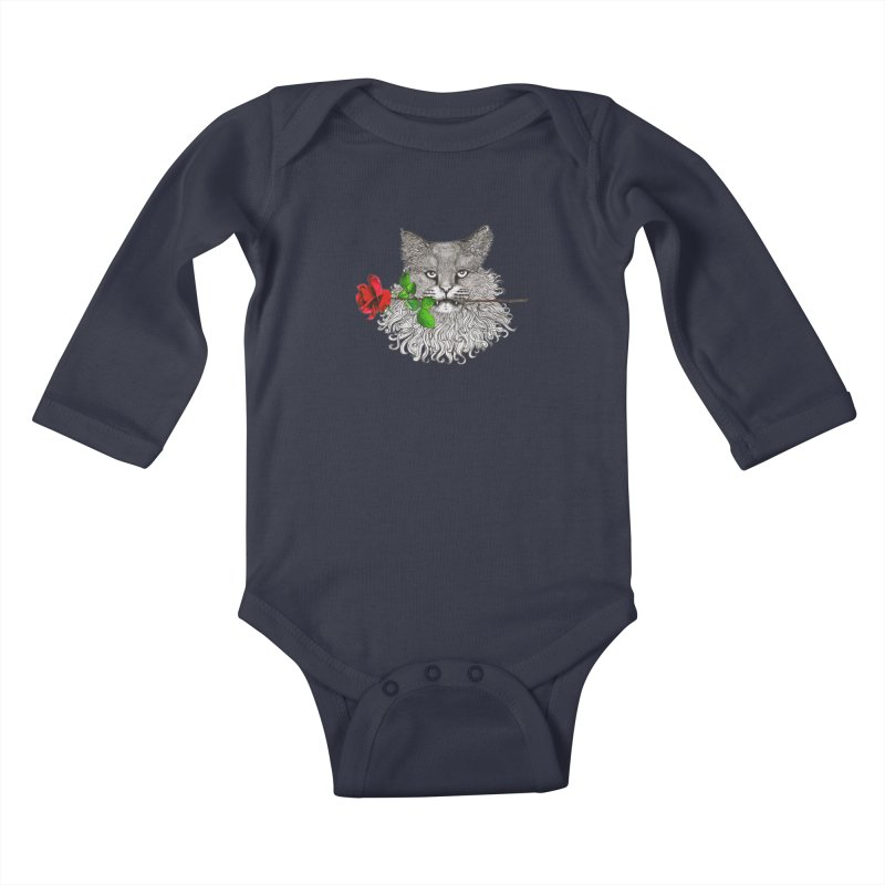 Romantic Cat Kids Baby Longsleeve Bodysuit by cmatthesart's Artist Shop