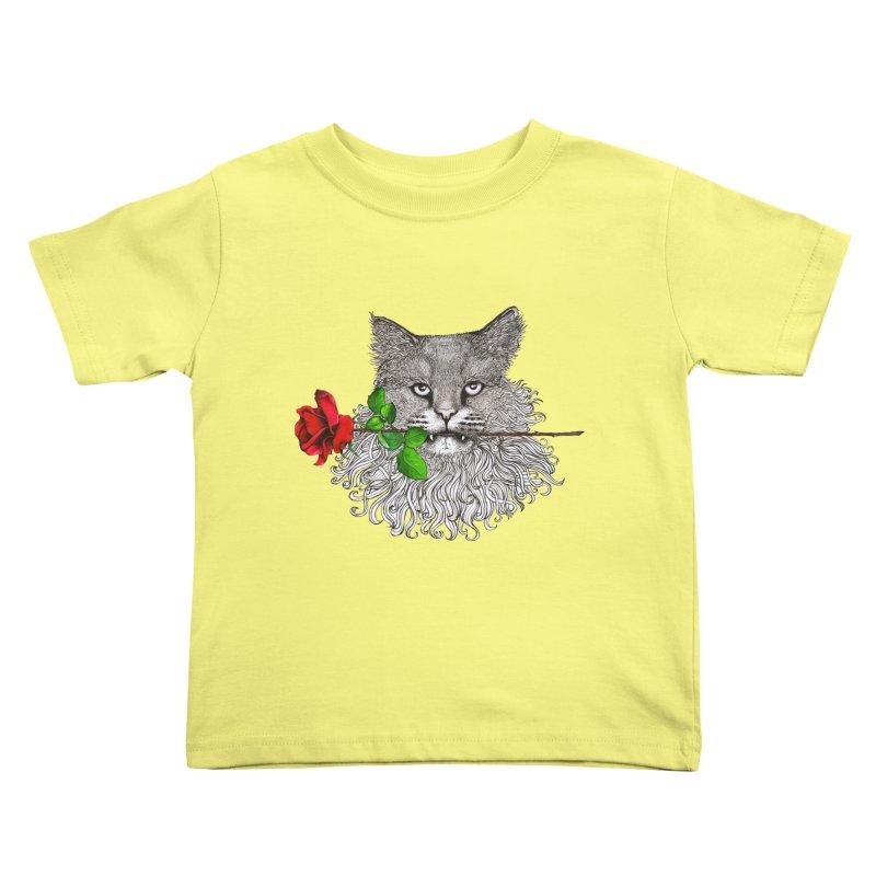 Romantic Cat Kids Toddler T-Shirt by cmatthesart's Artist Shop
