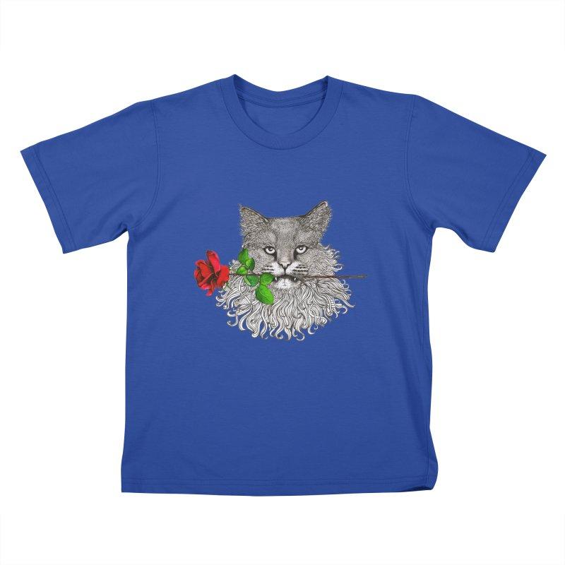 Romantic Cat Kids T-Shirt by cmatthesart's Artist Shop