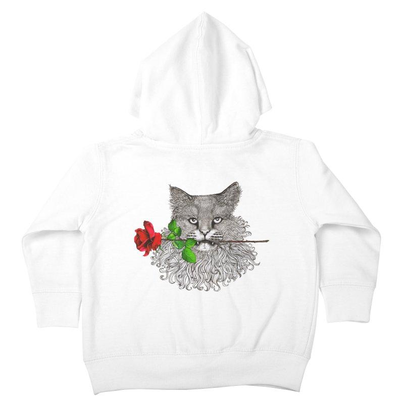 Romantic Cat Kids Toddler Zip-Up Hoody by cmatthesart's Artist Shop