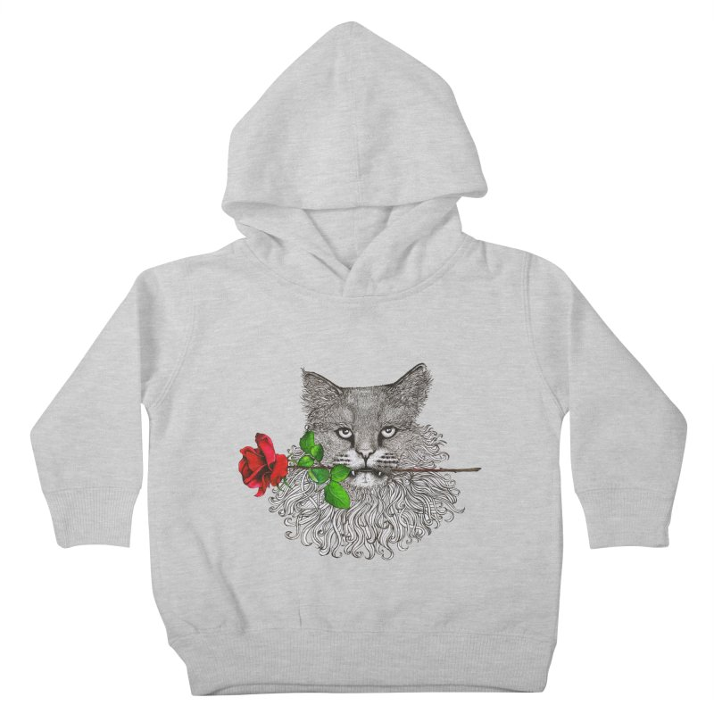 Romantic Cat Kids Toddler Pullover Hoody by cmatthesart's Artist Shop