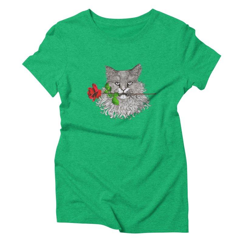 Romantic Cat Women's Triblend T-Shirt by cmatthesart's Artist Shop