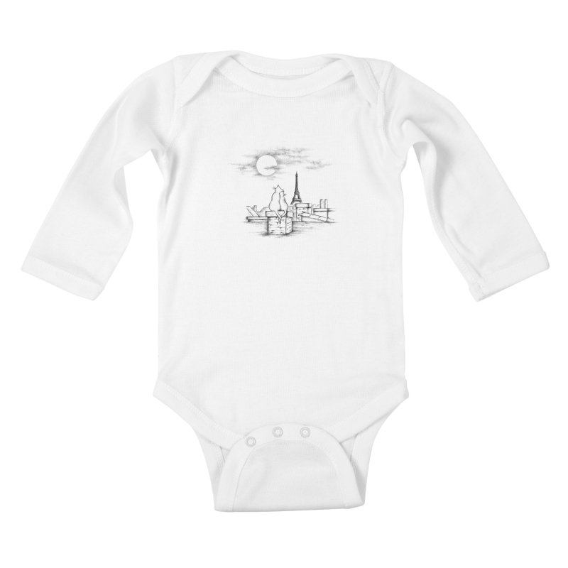 Love Cats Kids Baby Longsleeve Bodysuit by cmatthesart's Artist Shop