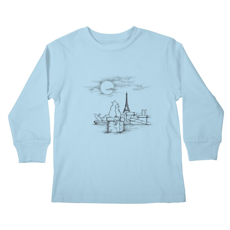 Love Cats Kids Longsleeve T-Shirt by cmatthesart's Artist Shop