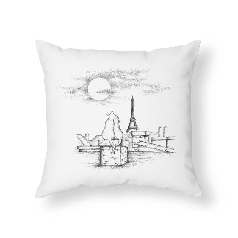 Love Cats Home Throw Pillow by cmatthesart's Artist Shop