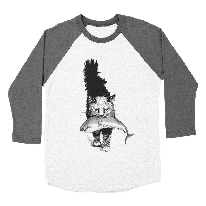 Supermoggie Women's Baseball Triblend Longsleeve T-Shirt by cmatthesart's Artist Shop