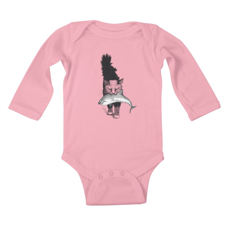 Supermoggie Kids Baby Longsleeve Bodysuit by cmatthesart's Artist Shop