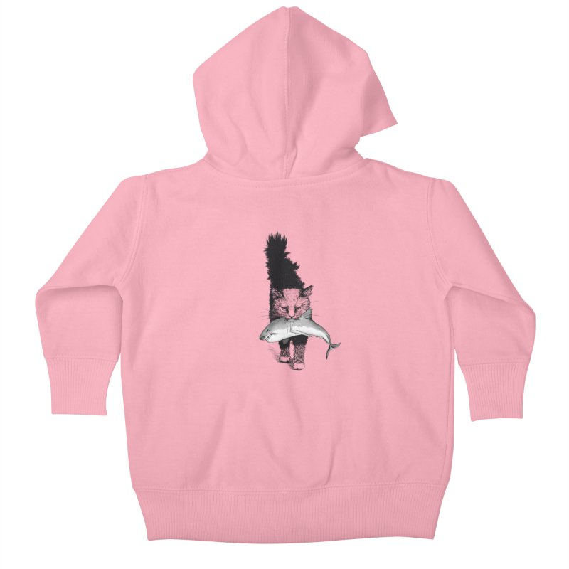 Supermoggie Kids Baby Zip-Up Hoody by cmatthesart's Artist Shop