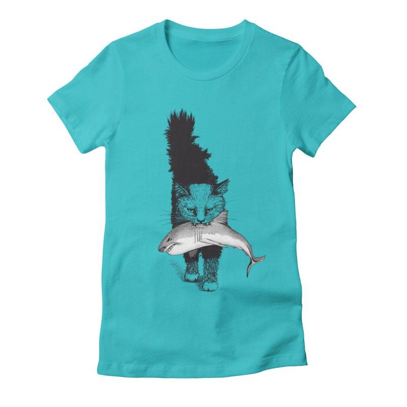 Supermoggie Women's Fitted T-Shirt by cmatthesart's Artist Shop