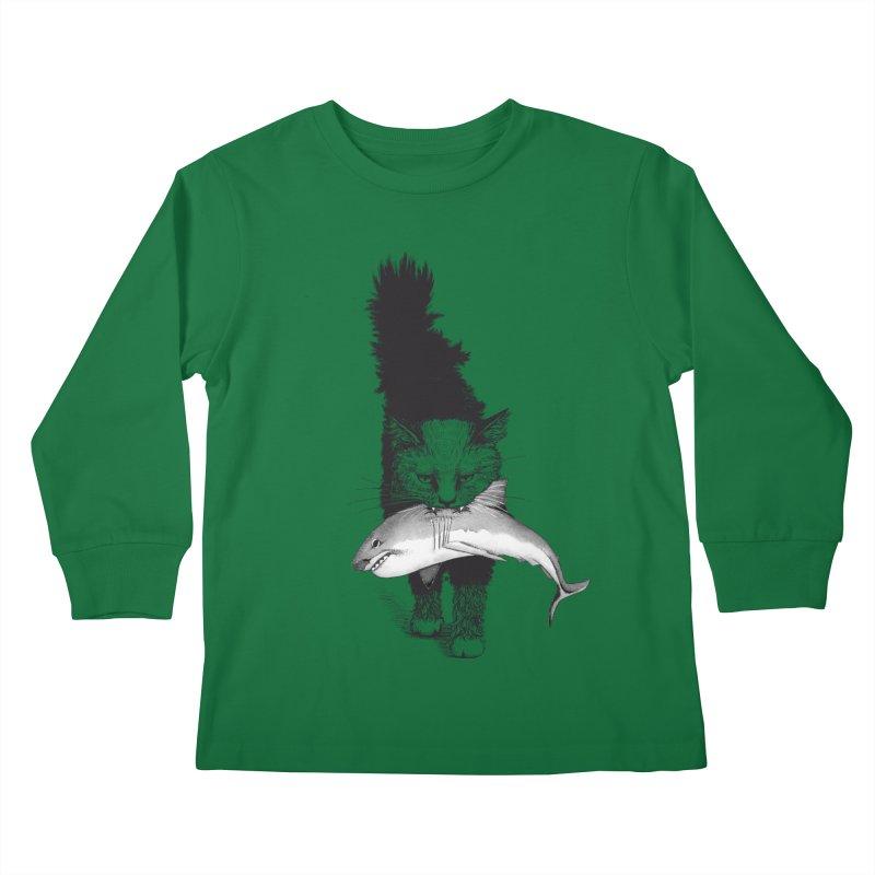 Supermoggie Kids Longsleeve T-Shirt by cmatthesart's Artist Shop