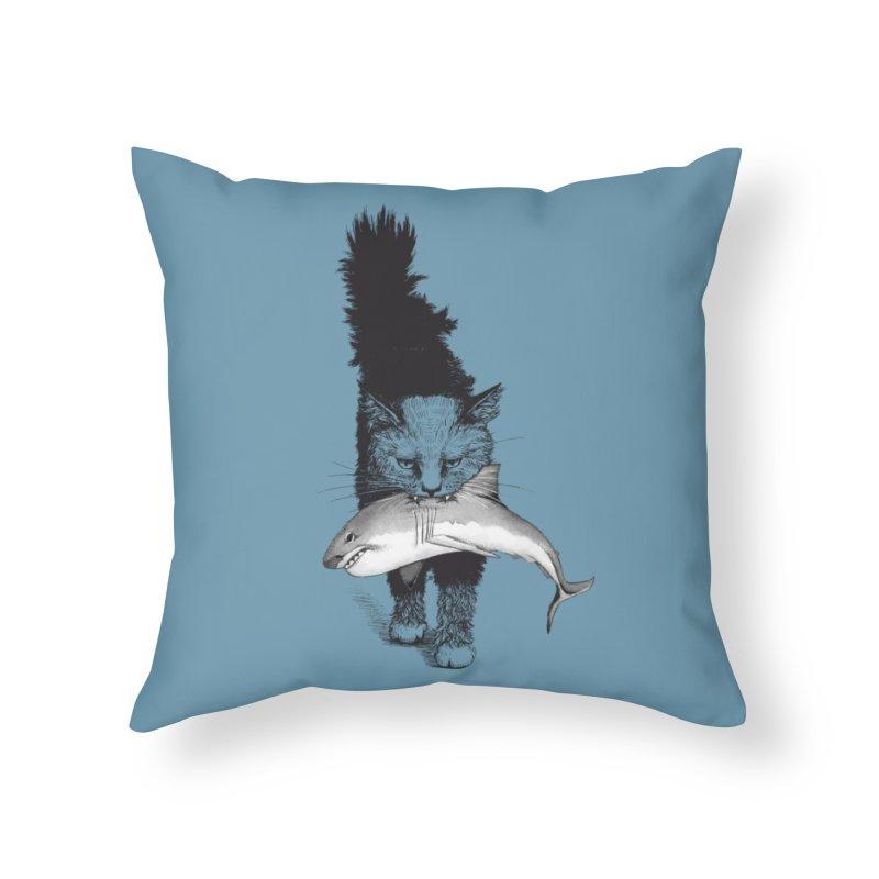 Supermoggie Home Throw Pillow by cmatthesart's Artist Shop