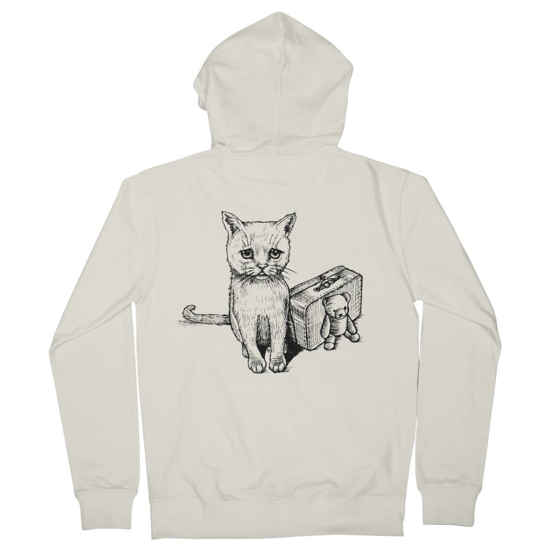 Lost Women's French Terry Zip-Up Hoody by cmatthesart's Artist Shop