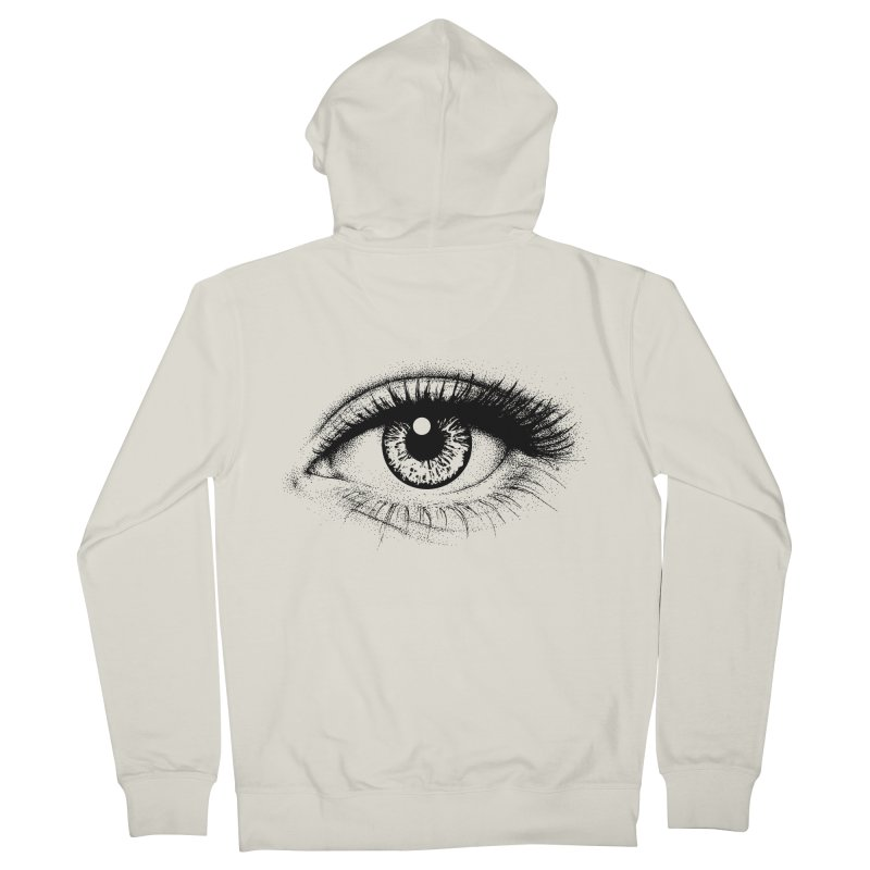 Eye Men's French Terry Zip-Up Hoody by cmatthesart's Artist Shop