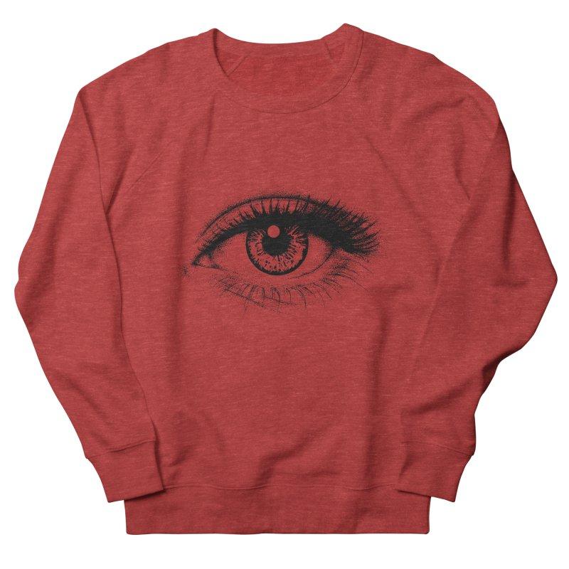 Eye Women's French Terry Sweatshirt by cmatthesart's Artist Shop