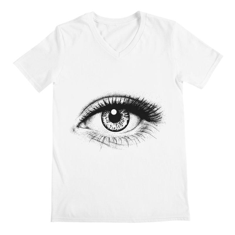Eye Men's Regular V-Neck by cmatthesart's Artist Shop