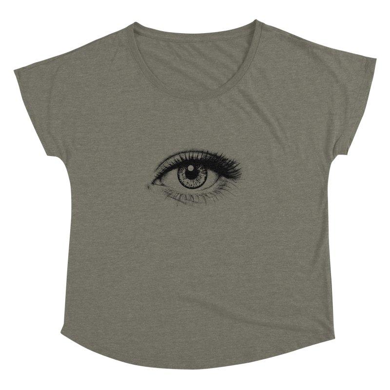 Eye Women's Dolman Scoop Neck by cmatthesart's Artist Shop