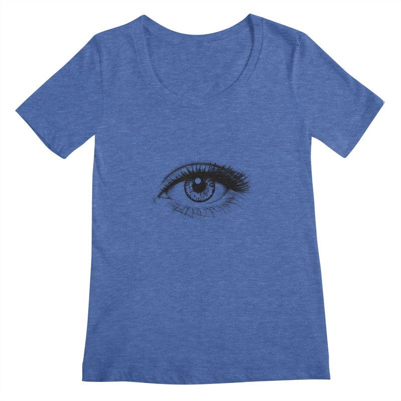 Eye Women's Scoopneck by cmatthesart's Artist Shop