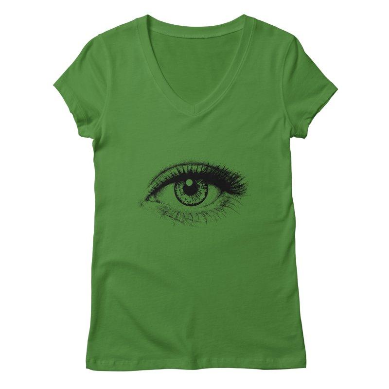 Eye Women's Regular V-Neck by cmatthesart's Artist Shop