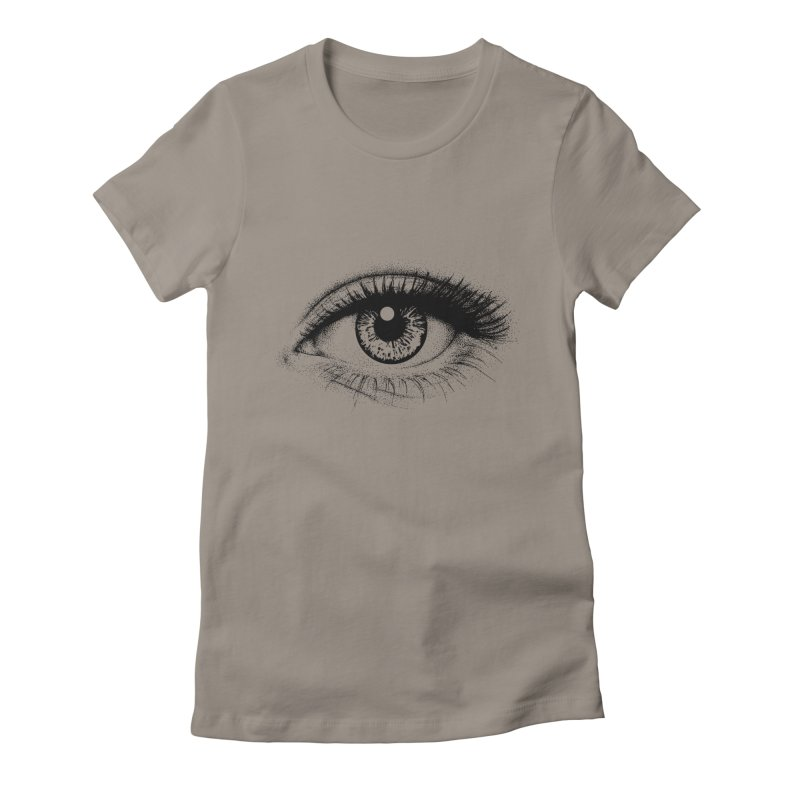 Eye Women's Fitted T-Shirt by cmatthesart's Artist Shop