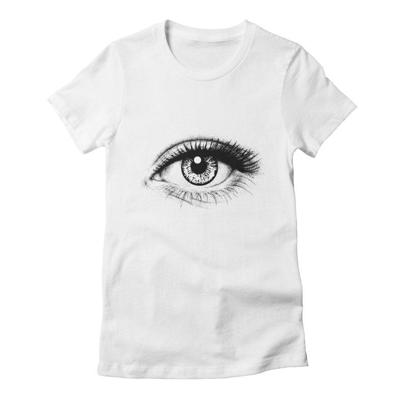 Eye Women's Fitted T-Shirt by cmatthesart's Artist Shop