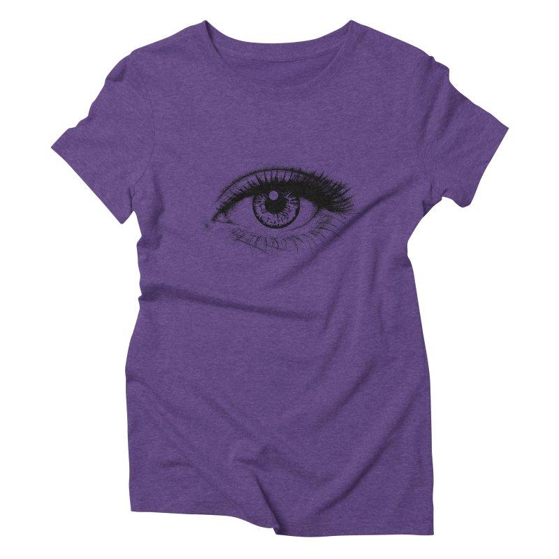 Eye Women's Triblend T-Shirt by cmatthesart's Artist Shop