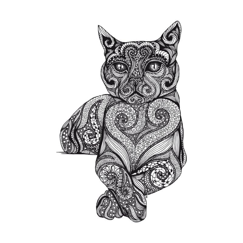 Zentangle Cat by cmatthesart's Artist Shop