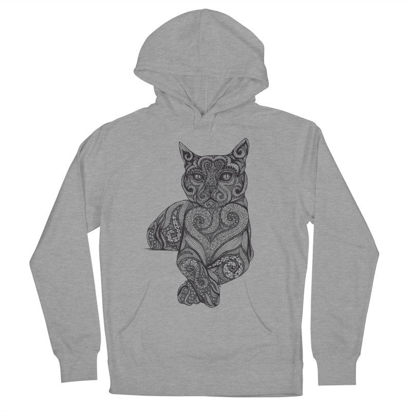 Zentangle Cat Women's Pullover Hoody by cmatthesart's Artist Shop