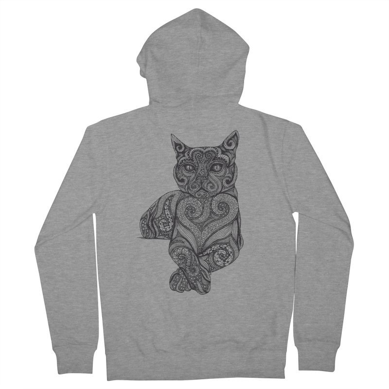 Zentangle Cat Men's Zip-Up Hoody by cmatthesart's Artist Shop