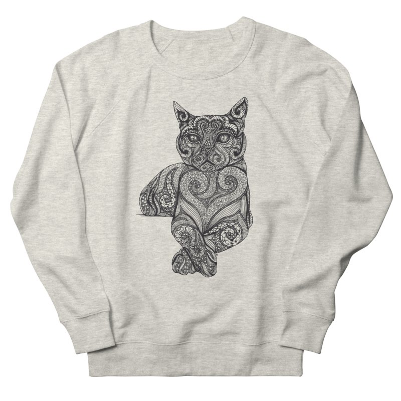 Zentangle Cat Women's Sweatshirt by cmatthesart's Artist Shop