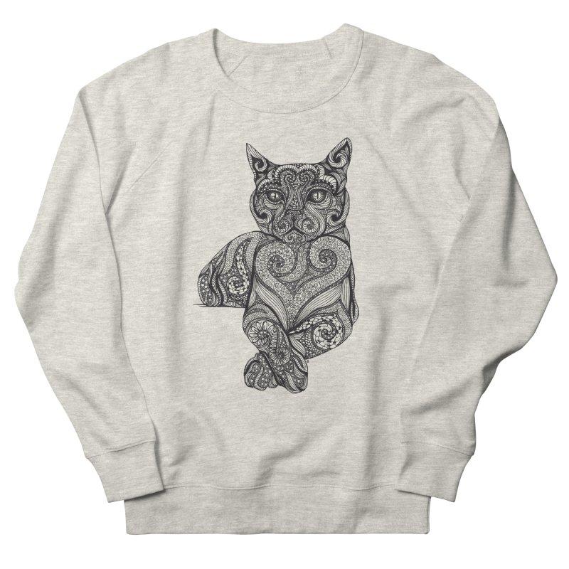 Zentangle Cat Men's Sweatshirt by cmatthesart's Artist Shop