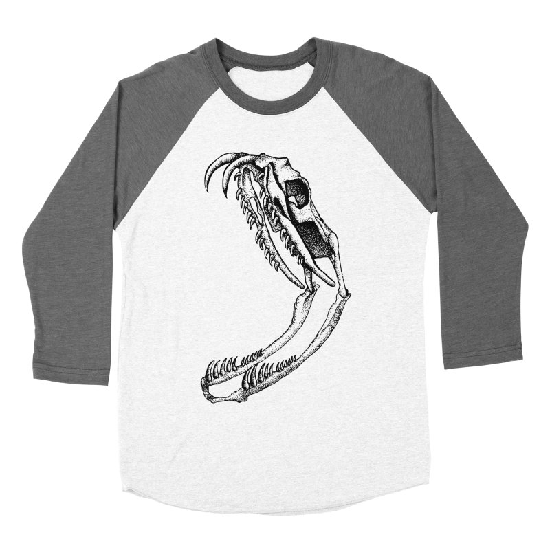 Snake Skull Men's Baseball Triblend T-Shirt by cmatthesart's Artist Shop