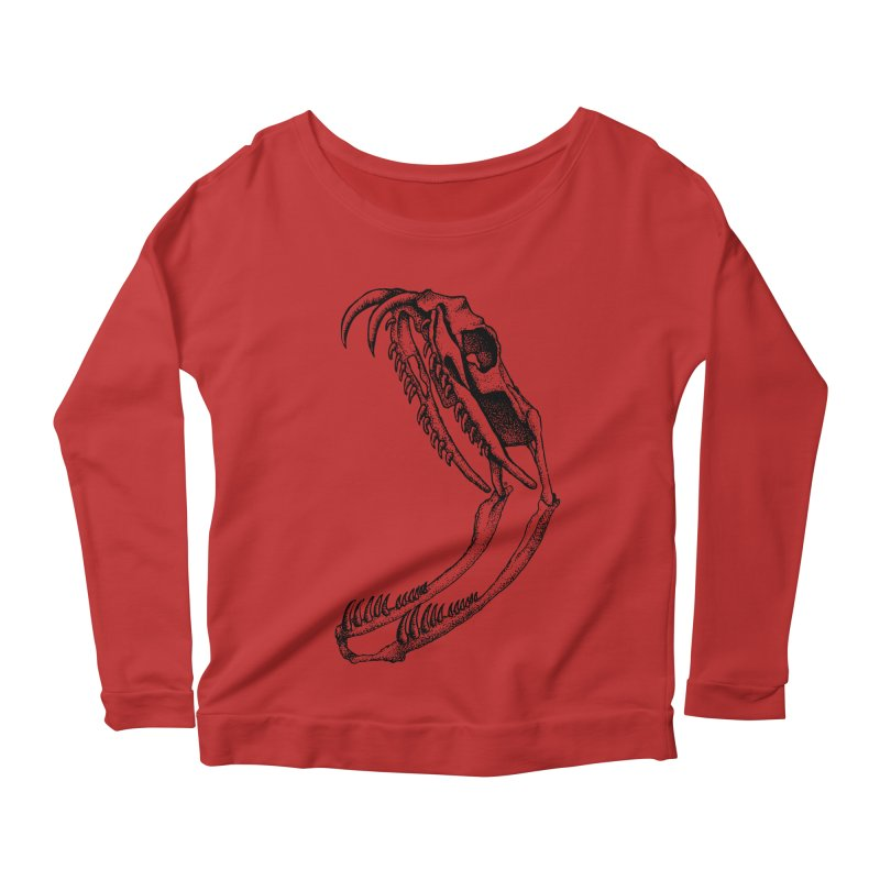Snake Skull Women's Scoop Neck Longsleeve T-Shirt by cmatthesart's Artist Shop