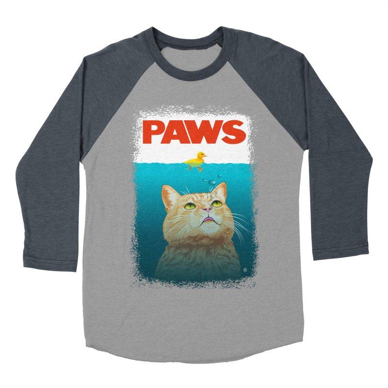 Paws! Women's Baseball Triblend T-Shirt by cmatthesart's Artist Shop