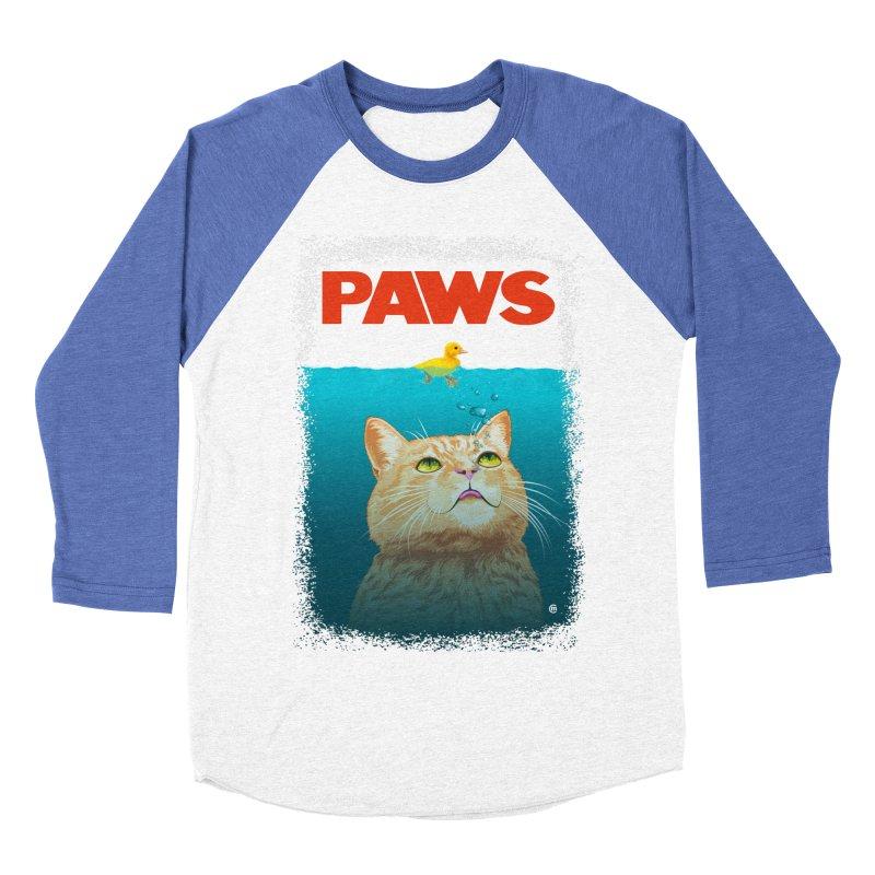 Paws! Men's Baseball Triblend T-Shirt by cmatthesart's Artist Shop