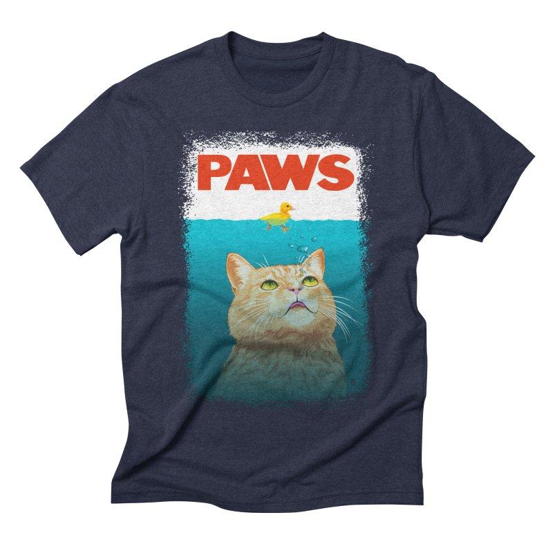 Paws! Men's Triblend T-shirt by cmatthesart's Artist Shop